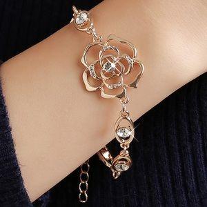 Gold Color Austrian Crystal Rose bracelet